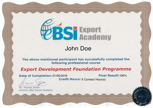 EDFP - Export Development Foundation Program