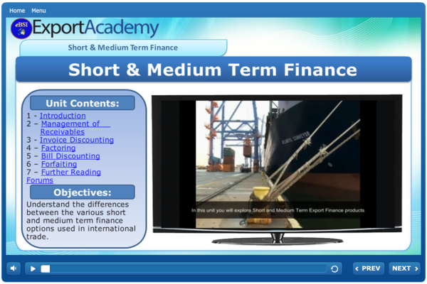 Short and Medium Term Finance