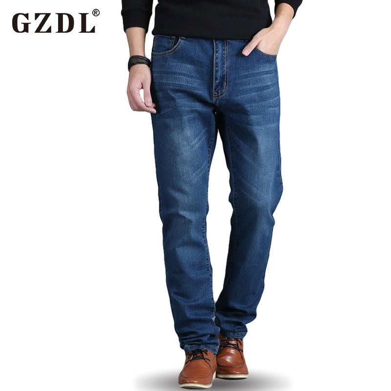 Summer Mens Jeans New Fashion Men Business Casual Jeans Thin Section