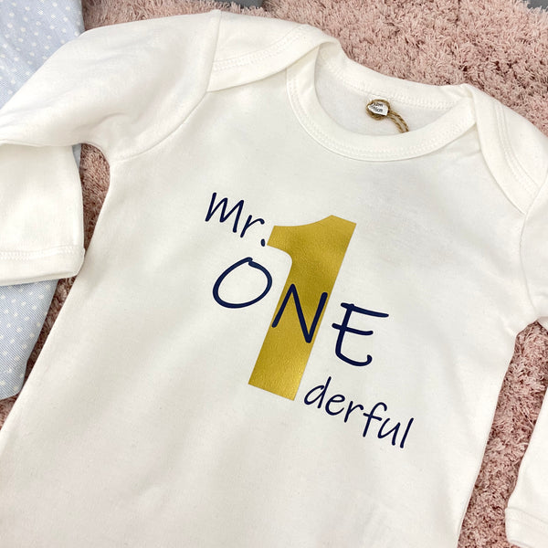 Baby-Body langarm MR. ONEDERFUL (individuell)