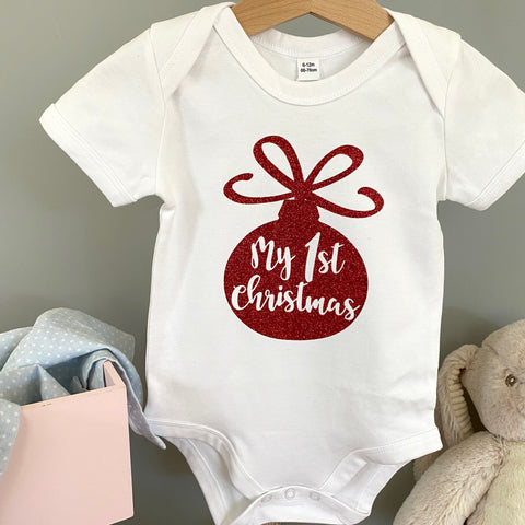 Baby-Body WEIHNACHTSKUGEL MY FIRST CHRISTMAS (individuell)