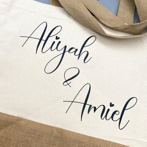 JUTE SHOPPER MIT NAME (personalisiert)