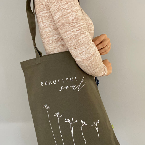 Bio-Stofftasche 340 g/m²! BEAUTIFUL SOUL (individuell)