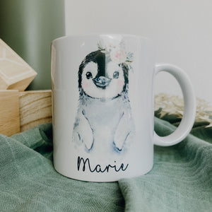 Tasse PINGUIN + WUNSCHNAME (personalisiert)