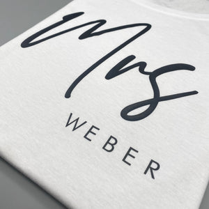 Damen T-Shirt regulär MRS +NAME (personalisiert)