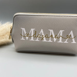 "Beauty Bag klein ""MAMA MIT NAME"" (personalisiert)"