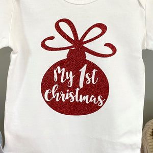 Baby-Body langarm WEIHNACHTSKUGEL MY FIRST CHRISTMAS (individuell)