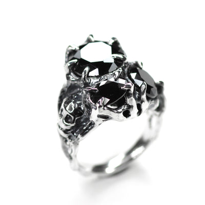 Black Memento Mori Ring