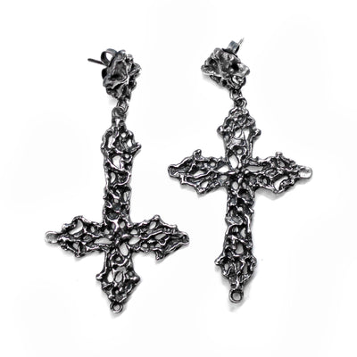 Lady of Sorrows Crucifix Earrings