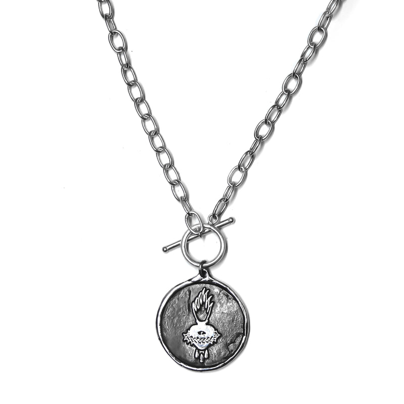 Sacred Heart Fob Necklace