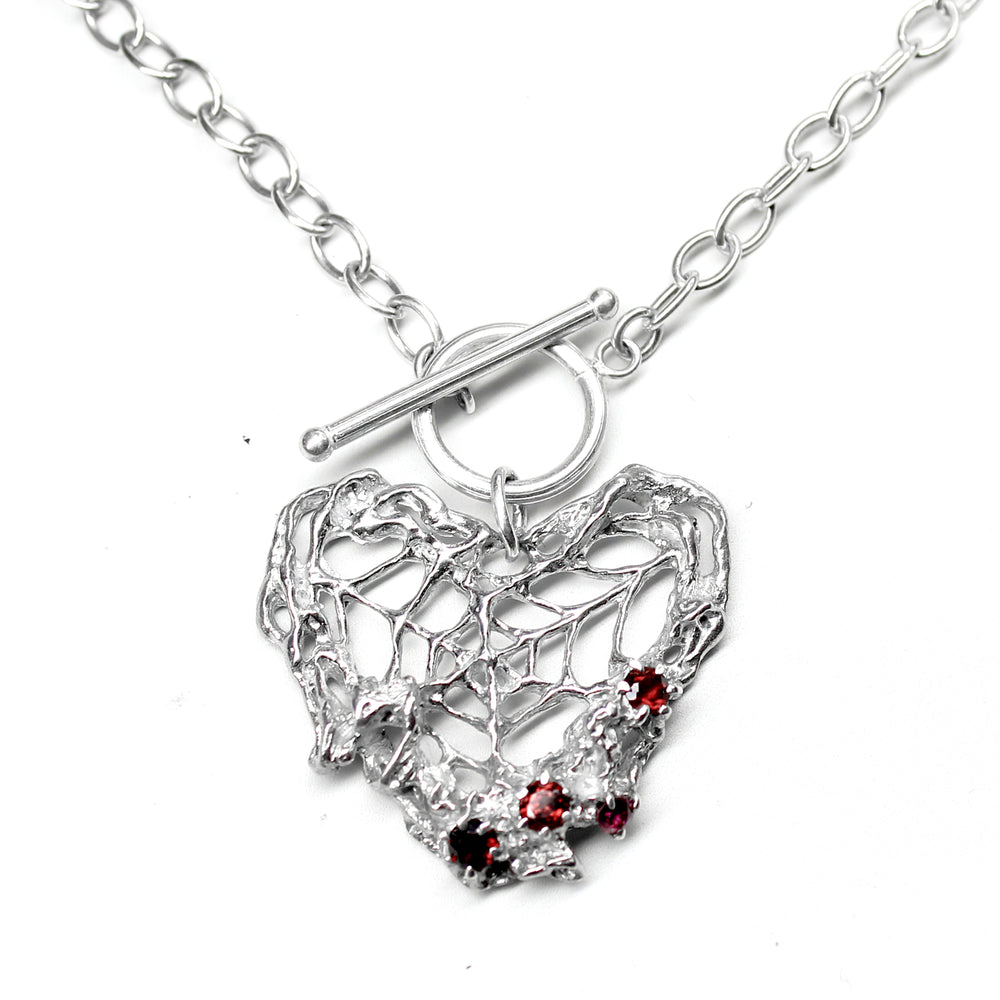 Webbed Heart Necklace