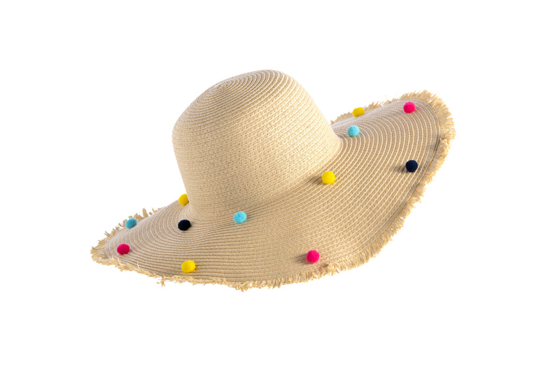 Bubble Beach Tote With Sun Hat