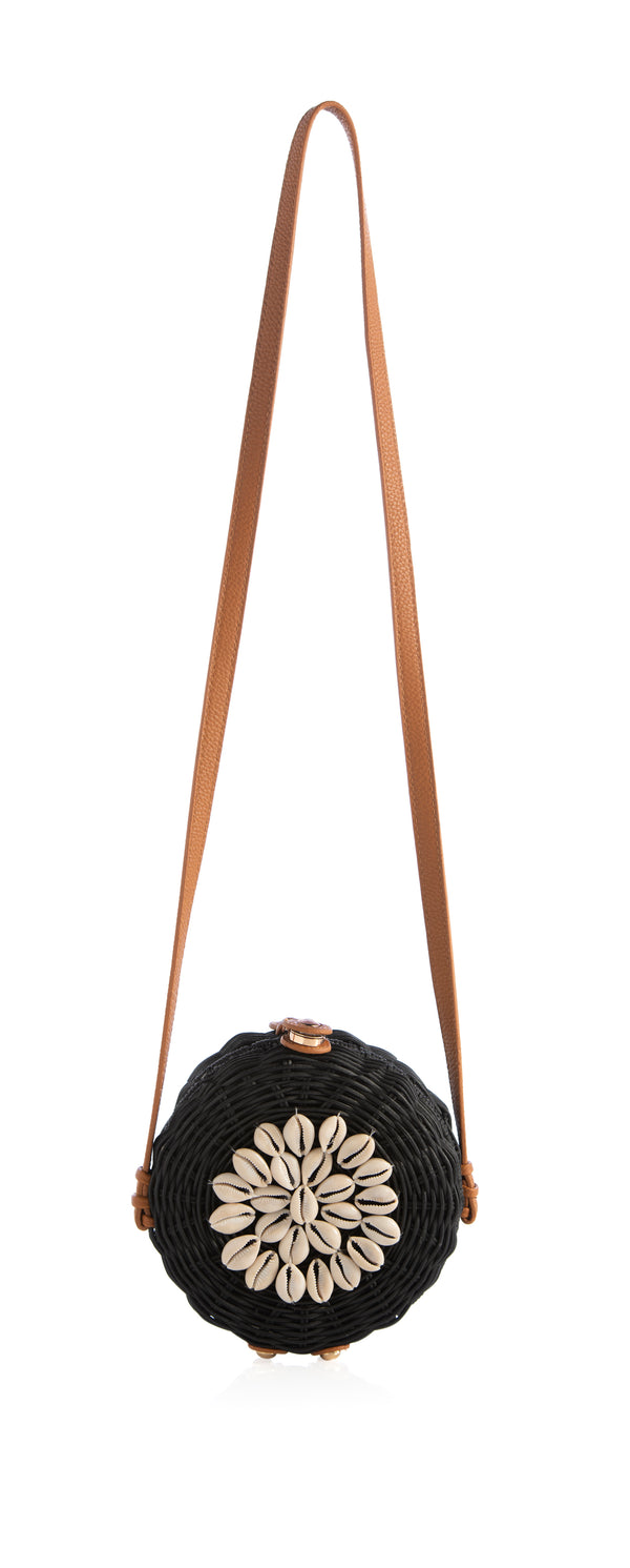 Cowry Shell Embellished Round Cross-Body