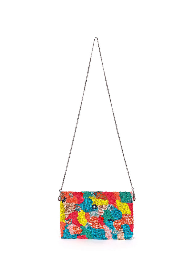 Coral Reef Embellished Clutch