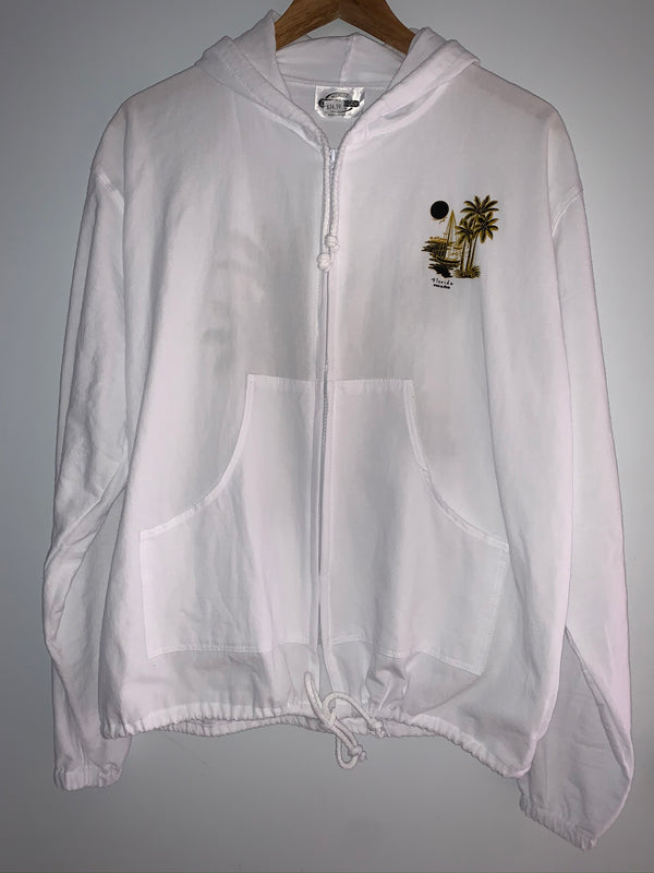 Cottonseed Zip Up Jacket - Gold Palm Sailboat