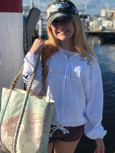 Charlotte Harbor Seabag Tote with Hemp Handles