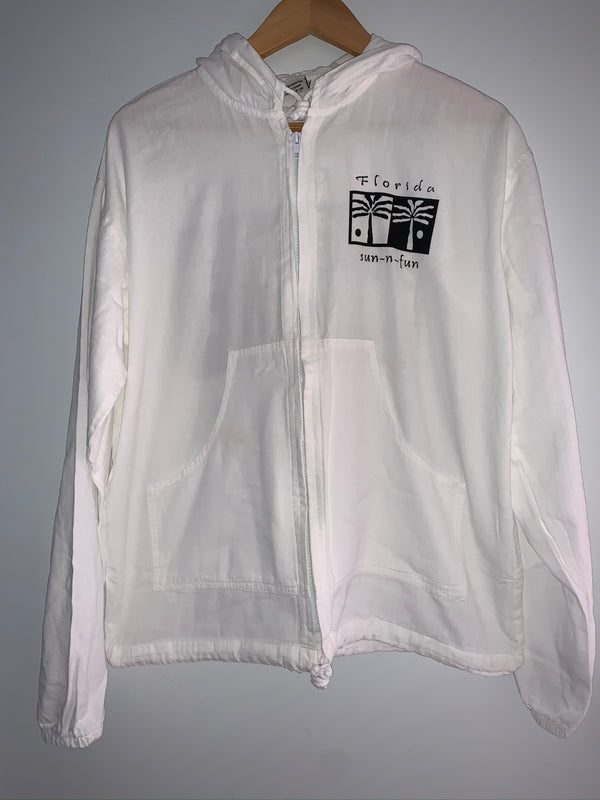 Cottonseed Zip Up Jacket Ying Yang Palm Trees