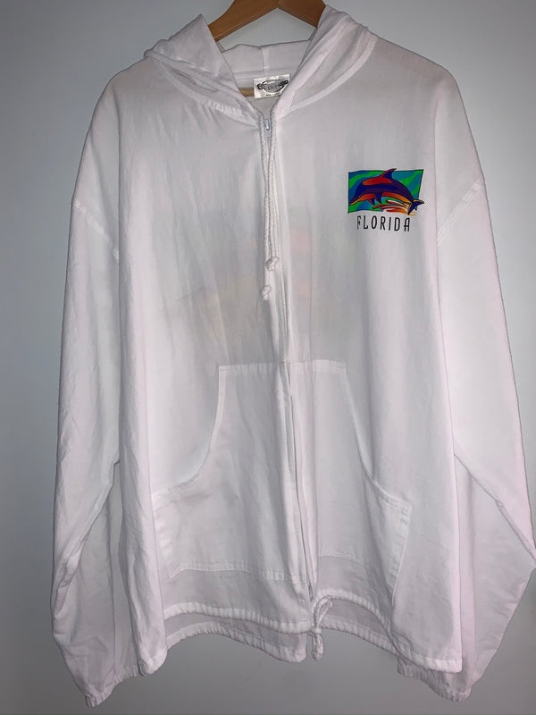 Cottonseed Zip Up Jacket Rainbow Dolphins