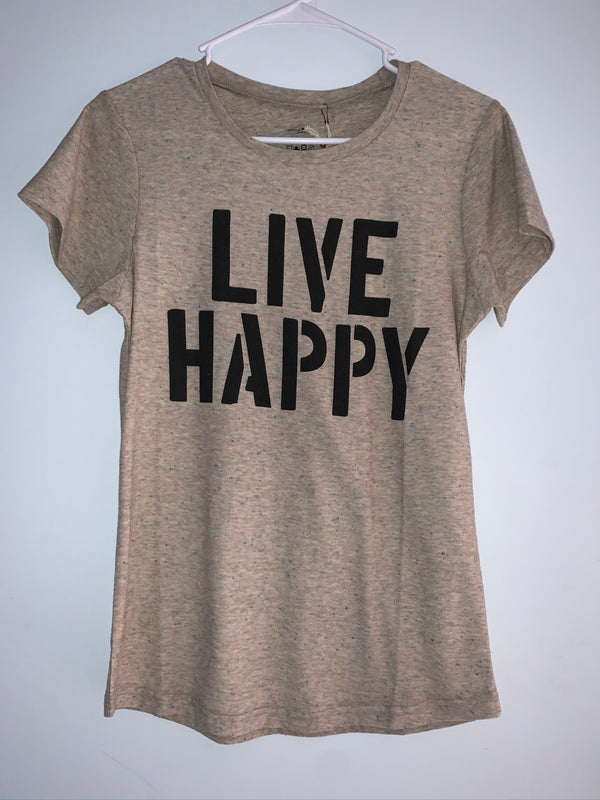 "Natural Life ""Live Happy"" Shirt"