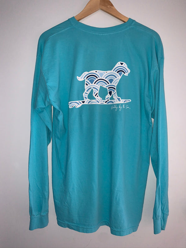 Long-sleeve Buddy By The Sea Blue Circles