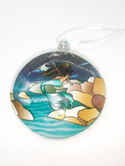 Punta Gorda Mermaid On Rock Ornament
