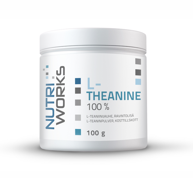 Nutri Works L-Theanine 100% maustamaton