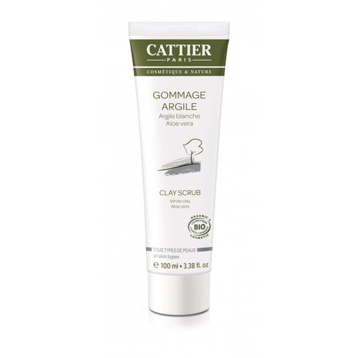 Cattier Paris White Clay Scrub - all skin types - savikuorinta