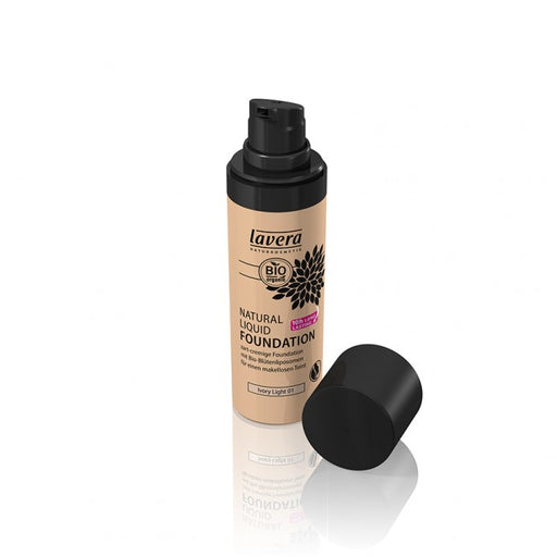 Lavera Natural Liquid Foundation - Meikkivoide Ivory light 01 - päiväys 3.2020 - poistoerä