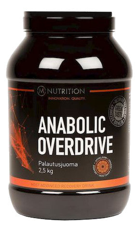 M-Nutrition Anabolic Overdrive - Palautusjuoma, appelsiini