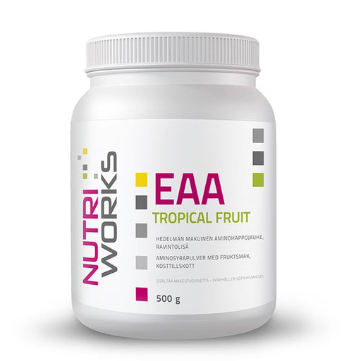 Nutri Works EAA Tropical Fruit - Trooppisten hedelmien makuinen aminohappojauhe 500g