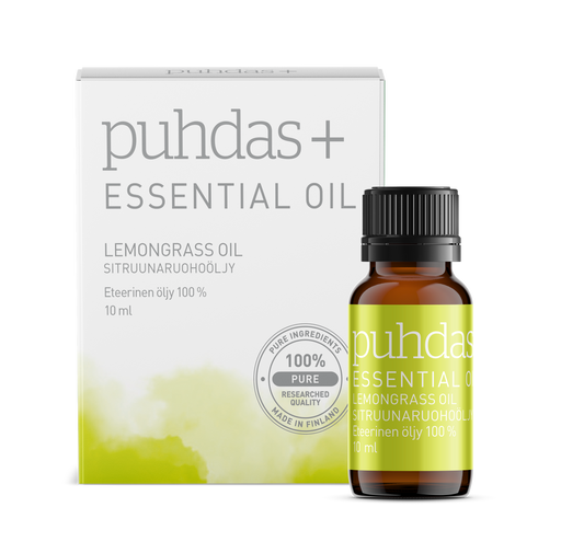 Puhdas+ Essential Oil Lemongrass Oil 10 ml - sitruunaruohoöljy