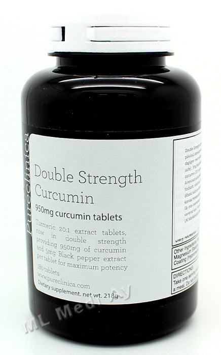 Pureclinica Double Strength Curcumin 1000mg 180 tabl. p