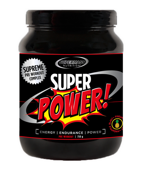 Supermass Nutrition Super Power Pineapple Blast - ennen treeniä -sekoitus 750 g