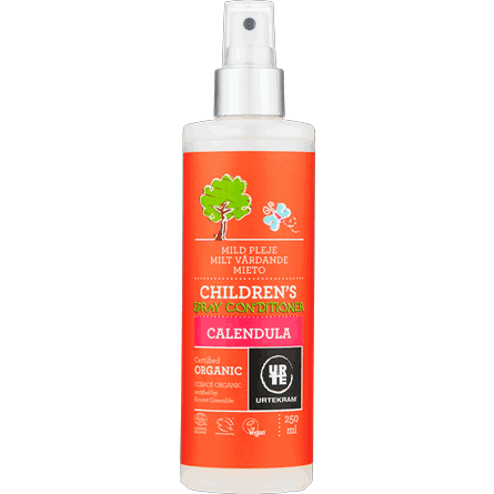 Urtekram Childrens Spray Conditioner Calendula 250 ml - Lasten hiustenhoitosuihke