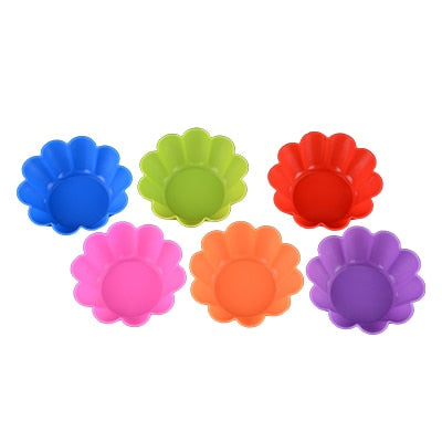 12pcs Nonstick Silicone Baking Molds