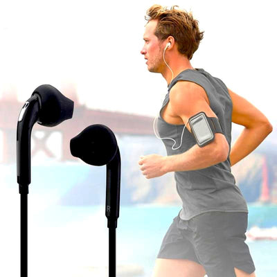 Sport Headphones with Mic 3.5mm In-Ear Wired Earbuds