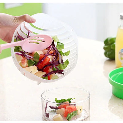Simply Cut Salads in 60 Seconds! In ONE Bowl!