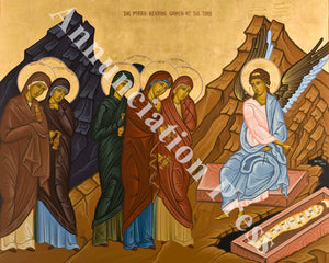 Myrrh Bearing Women at the Empty Tomb Icon