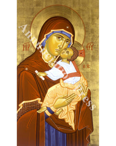 "Virgin and Child ""Sweet Kissing"" Icon 1"
