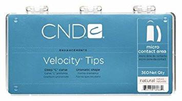 CND CND Velocity Tips - Clear 360 Qty - Sleek Nail