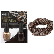 OPI Wrapped Wild for the Holidays DUO #1 (FREE Cheetah-Print inifinity scarf), Kit - OPI, Sleek Nail