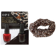 OPI Wrapped Wild for the Holidays DUO #2 (FREE Cheetah-Print infinity scarf!), Kit - OPI, Sleek Nail
