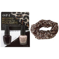 OPI Wrapped Wild for the Holidays DUO #3 (FREE Cheetah-Print inifinity scarf!), Kit - OPI, Sleek Nail