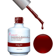 LeChat Perfect Match Gel / Lacquer Combo - Royal Red 0.5 oz - #PMS06, Gel Polish - LeChat, Sleek Nail