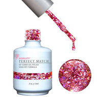 LeChat Perfect Match Gel / Lacquer Combo - Techno Pink Beat 0.5 oz - #PMS58, Gel Polish - LeChat, Sleek Nail