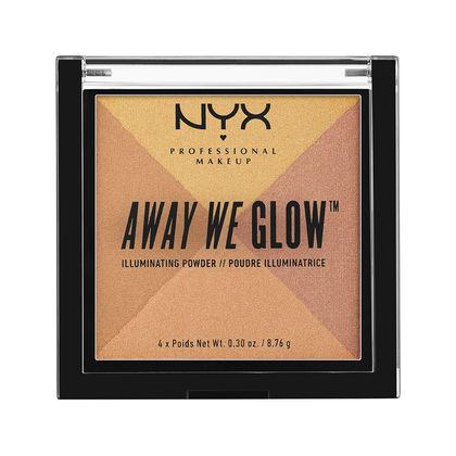 NYX Cosmetics NYX Away We Glow Illuminating Powder - Candlelit - #AWGIP03 - Sleek Nail