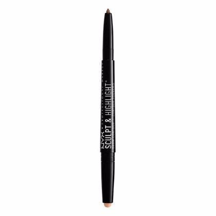 NYX Sculpt & Highlight Brow Contour - Soft Brown / Rose - #SHBC03