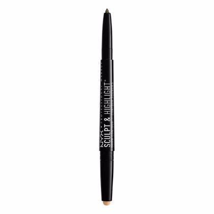 NYX Sculpt & Highlight Brow Contour - Ash Brown / Medium Beige - #SHBC07