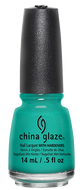 China Glaze China Glaze - Turned Up Turquoise 0.5 oz - #70345 - Sleek Nail