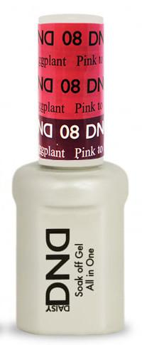 DND - Mood Change Gel - Pink to Eggplant 0.5 oz - #D08